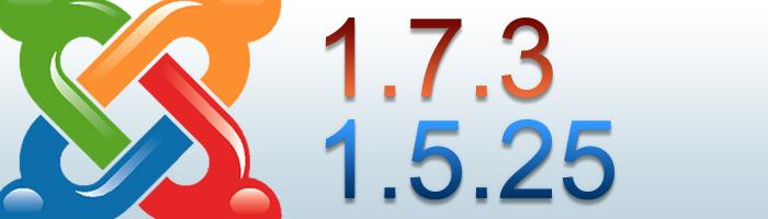 Joomla 1.7.3 und Joomla 1.5.25 wurden veröffentlicht und stehen zum Download bereit.