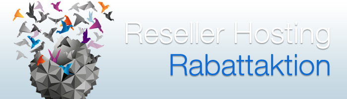 Reseller Hosting Rabatt in der November Aktion