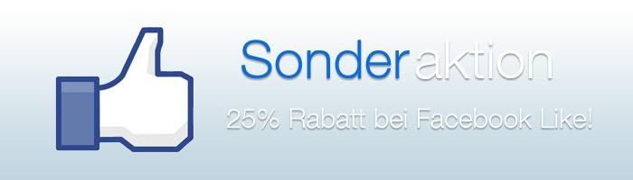 25 Prozent Rabatt bei Facebook Like