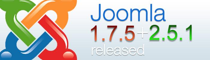 Die Sicherheitsupdates Joomla 2.5.1 und Joomla 1.7.5 sind da.