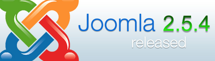 Joomla 2.5.4 führt neue Funktionen ein und schließt einige Lücken