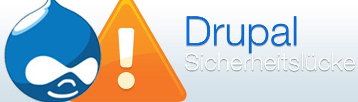 Drupal Sicherheitslücke entdeckt. Drupal Update auf Version 7.13 behebt das Problem.