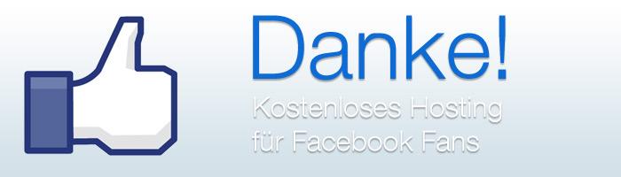 Kostenloses Webhosting als Dankeschön für über 1000 Facebook Fans