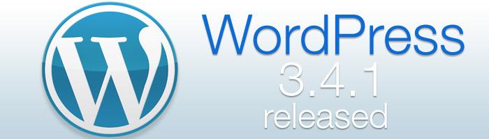 WordPress 3.4.1 behebt einige Sicherheitslücken und beseitigt Fehler