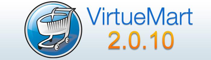 VirtueMart 2.0.10 behebt einige Fehler
