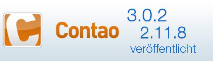 Contao 3.0.2 und 2.11.8 erschienen