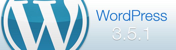 WordPress 3.5.1 wurde veröffentlicht
