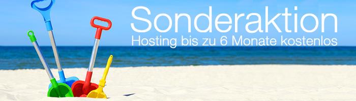 Webhosting kostenlos im August