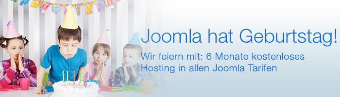 Joomla Hosting Aktion zum Joomla Geburtstag