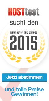 Wahl: Webhoster 2015 - jetzt abstimmen und tolle Preise gewinnen