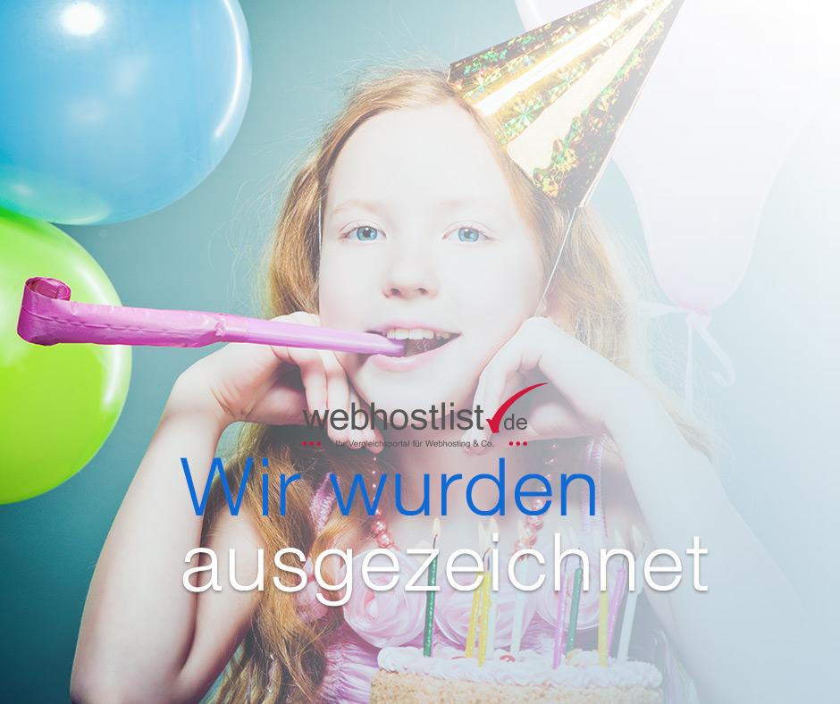 Auszeichnungen der webhostlist.de GmbH