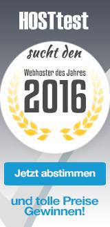 Wahl zum Webhoster des Jahres 2016