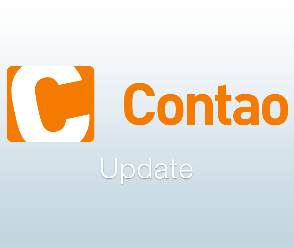 Contao Update erschienen und beseitigt einige Fehler