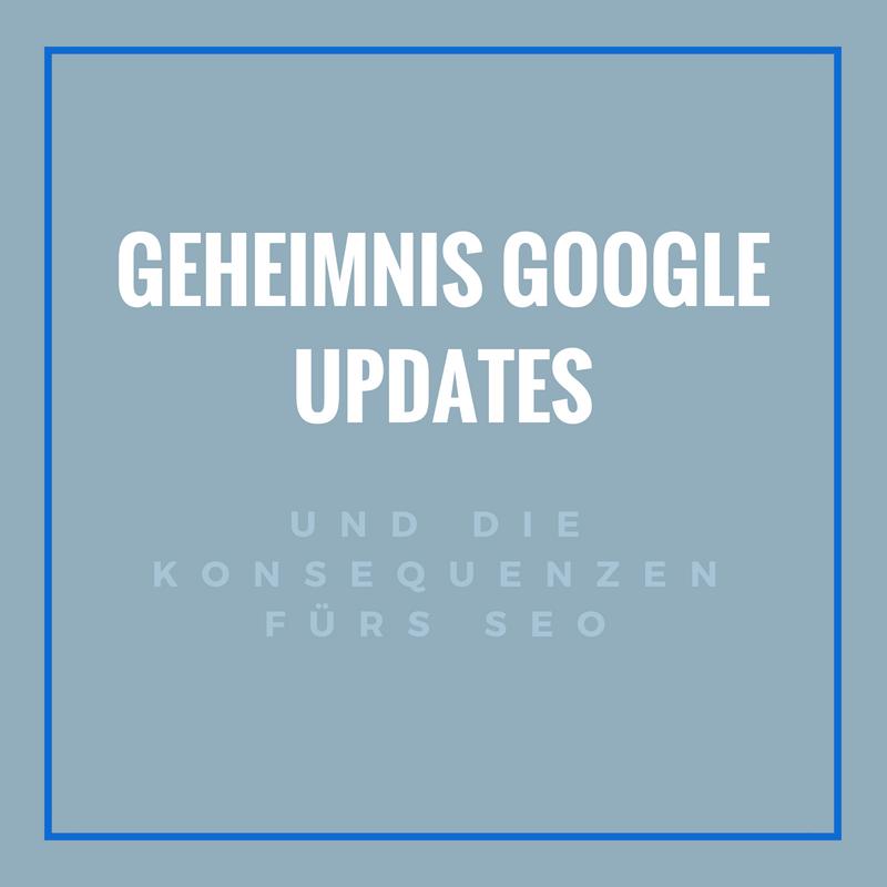 Google Updates  und ihre SEO Konsequenzen
