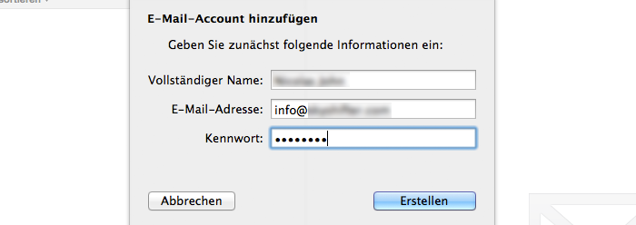E-Mail Adresse in Apple Mail einrichten