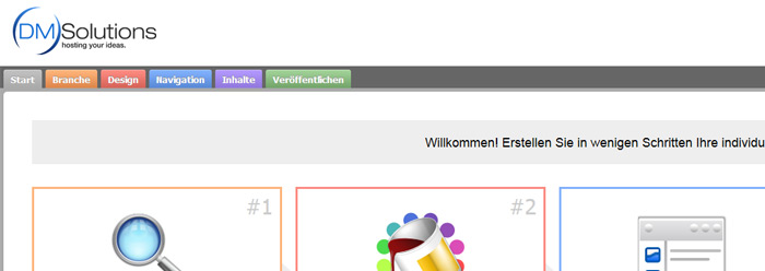 Homepage Baukasten Screenshot 1