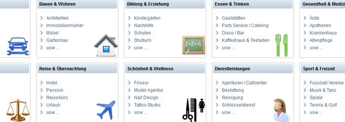 Homepage Baukasten Screenshot 2