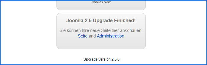 Joomla Upgrade 1.5 nach 2.5