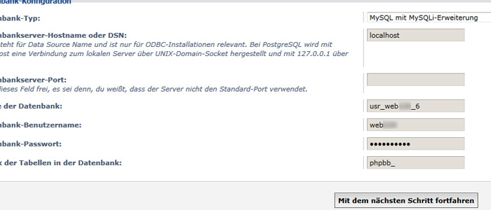 phpBB Installation Anleitung