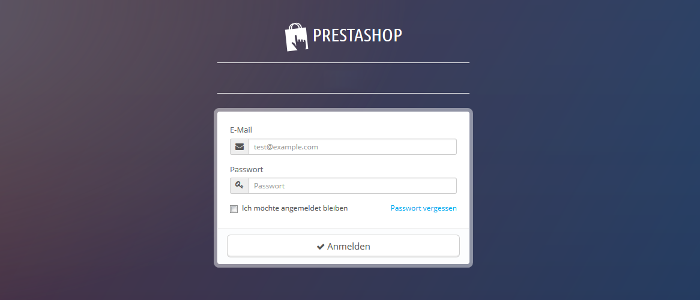 Prestashop Backend Login