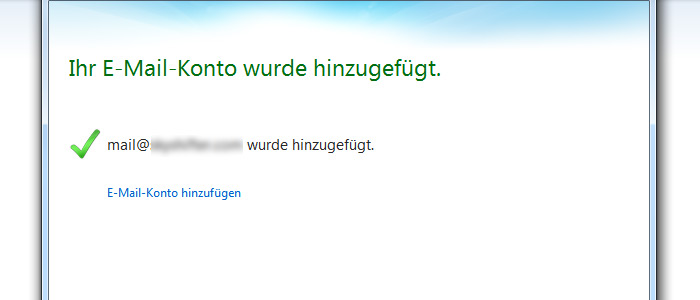 Windows Live Mail Postfach anlegen