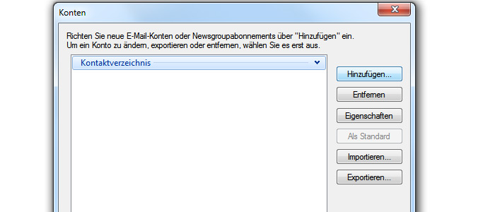 Windows Live Mail einrichten