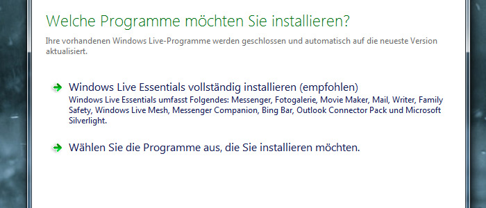 Windows Live Mail installieren