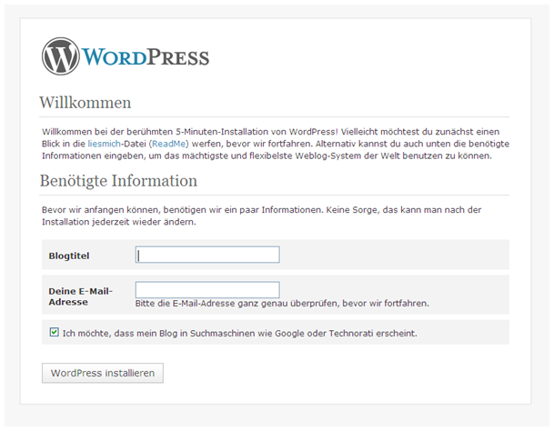 WordPress XAMPP Installation